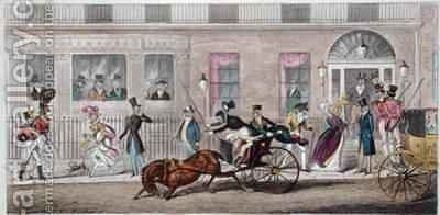 Exterior of Fishmongers Hall a Regular Break Down by Isaac Robert Cruikshank - Reproduction Oil Painting