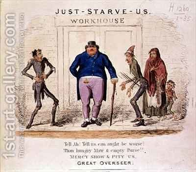 Just Starve Us Tell Ah Tell Us Can Aught be Worse Than Hungry Maw and Empty Purse Mercy Show and Pity Us Great Overseer by Isaac Robert Cruikshank - Reproduction Oil Painting