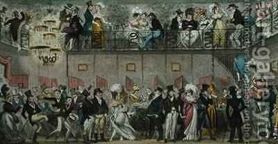 The Royal Saloon Piccadilly by Isaac Robert Cruikshank - Reproduction Oil Painting