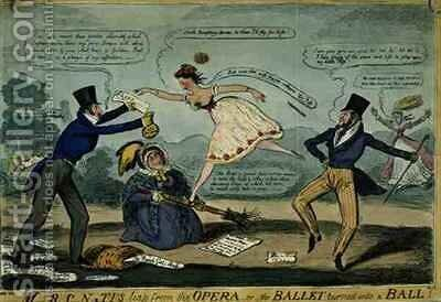 MRCN TIs Leap from the Opera or The Ballet Turned into a Ball by Isaac Robert Cruikshank - Reproduction Oil Painting