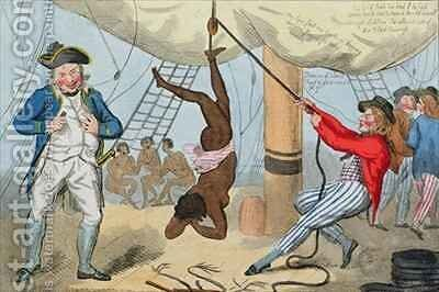 The Abolition of the Slave Trade by Isaac Cruikshank - Reproduction Oil Painting