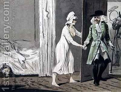 The Cuckold departs for the Hunt by Isaac Cruikshank - Reproduction Oil Painting