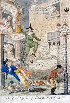 The Good Effects of Carbonic Gas by Isaac Cruikshank - Reproduction Oil Painting