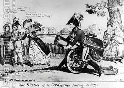 The Master of the Ordnance exercising his Hobby by Isaac Cruikshank - Reproduction Oil Painting