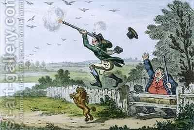 Cockney Sportsmen Shooting Flying by (after) Cruikshank, Isaac - Reproduction Oil Painting