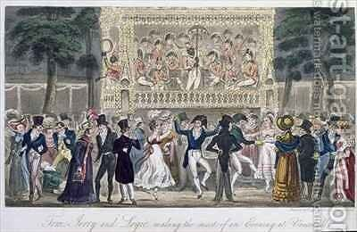 Tom Jerry and Logic making the most of an evening at Vauxhall by I. Robert and George Cruikshank - Reproduction Oil Painting