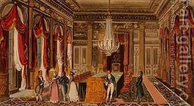 Tom Jerry and Logic visiting Carlton House by I. Robert and George Cruikshank - Reproduction Oil Painting