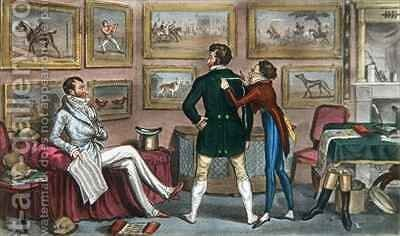Jerry in training for a Swell by I. Robert and George Cruikshank - Reproduction Oil Painting