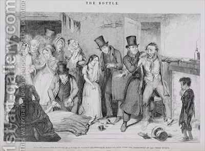 The Bottle Plate VII by (after) Cruikshank, George - Reproduction Oil Painting