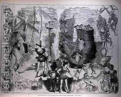 Scenes from the Drury Lane and Covent Garden Pantomines by (after) Cruikshank, George - Reproduction Oil Painting