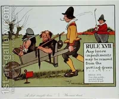 Rule XVII Any loose impediments may be removed from the putting green by Charles Crombie - Reproduction Oil Painting