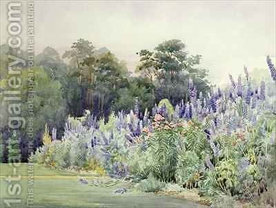 Delphinium Pier Point by Helen Crofton - Reproduction Oil Painting