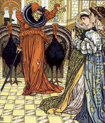 Illustration from The Yellow Dwarf first edition by Walter Crane - Reproduction Oil Painting