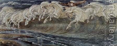 Neptunes Horses by Walter Crane - Reproduction Oil Painting