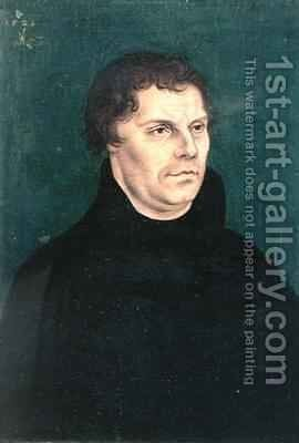 Martin Luther 1483-1546 by Lucas The Elder Cranach - Reproduction Oil Painting