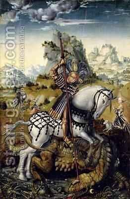 St George 2 by Lucas The Elder Cranach - Reproduction Oil Painting
