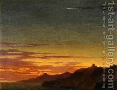 Close of the Day Sunset on the Coast by Alexander Cozens - Reproduction Oil Painting