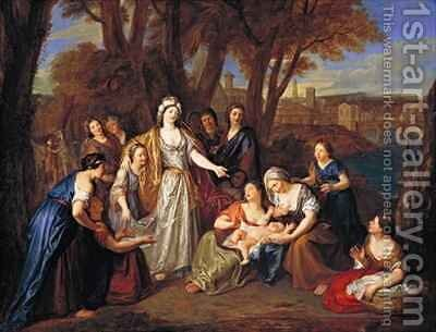The Finding of Moses by Antoine Coypel - Reproduction Oil Painting