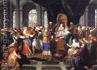 Athaliah Expelled from the Temple by Antoine Coypel - Reproduction Oil Painting