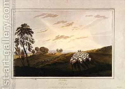Afternoon A View in Surrey by (after) Cox, David - Reproduction Oil Painting
