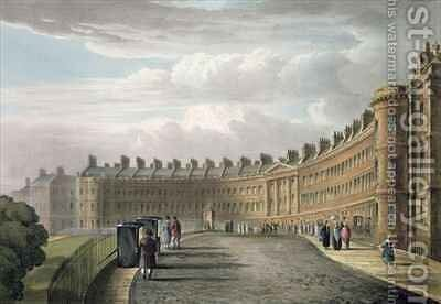 Lansdown Crescent Bath by (after) Cox, David - Reproduction Oil Painting