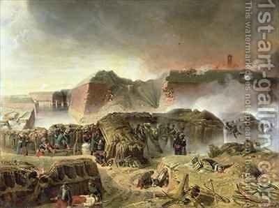 Siege of Antwerp by C. Courtois d'Hurbal - Reproduction Oil Painting