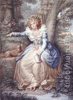 Mrs Fitzherbert by (after) Cosway, Richard - Reproduction Oil Painting