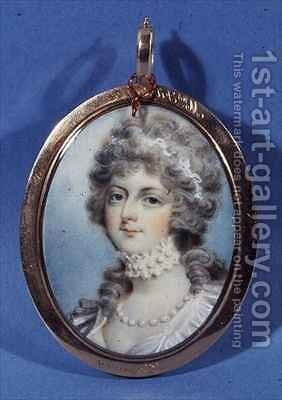 Portrait of Mrs Fitzherbert by (after) Cosway, Richard - Reproduction Oil Painting