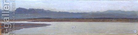 Mouth of the Arno by Giovanni Costa - Reproduction Oil Painting
