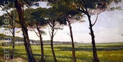 A Line of Old Pines by Giovanni Costa - Reproduction Oil Painting