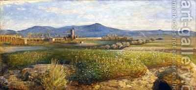 The Roman Campagna by Giovanni Costa - Reproduction Oil Painting