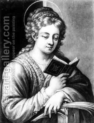 St Catherine 2 by (after) Correggio, (Antonio Allegri) - Reproduction Oil Painting