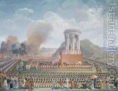 Festival of the Federation by Jean Alexis Cornu - Reproduction Oil Painting