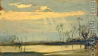 At Henley on Thames the river flooded by Matthew Ridley Corbet - Reproduction Oil Painting