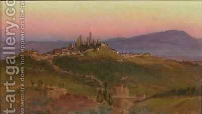 View of San Gimignano by Edith Ridley Corbet - Reproduction Oil Painting