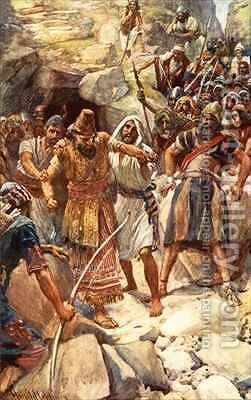 The fate of the Canaanite kings by Harold Copping - Reproduction Oil Painting