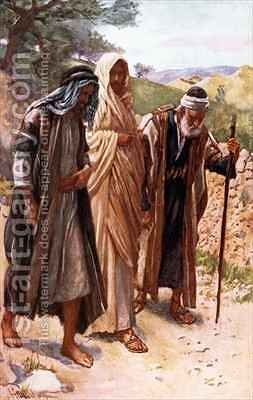 The walk to Emmaus by Harold Copping - Reproduction Oil Painting