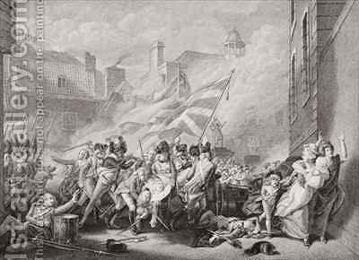 The death of Major Peirson at St Helier retaking Jersey from the French by (after) Copley, John Singleton - Reproduction Oil Painting