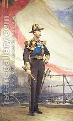 King George V by Sir Arthur Stockdale Cope - Reproduction Oil Painting