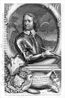 Oliver Cromwell 1599-1658 Lord Protector of England Scotland and Ireland in 1653 by (after) Cooper, Samuel - Reproduction Oil Painting