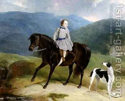 Master Edward Coutts Marjoriebanks on his Pony by Abraham and Webster, Thomas Cooper - Reproduction Oil Painting