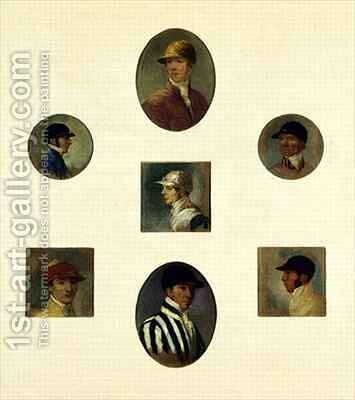 Studies of Jockeys by Abraham Cooper - Reproduction Oil Painting