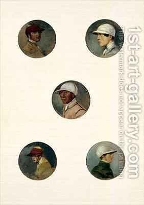 Studies of Jockeys 2 by Abraham Cooper - Reproduction Oil Painting
