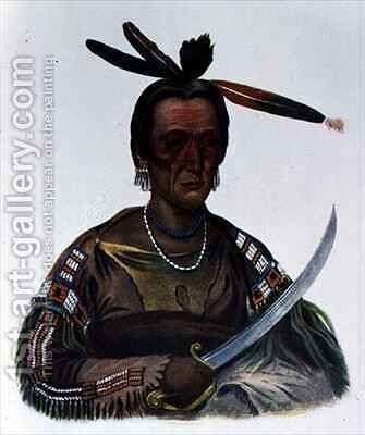 To Ka Cou a Yankton Sioux Chief by (after) Cooke, George - Reproduction Oil Painting