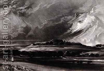 Old Sarum by (after) Constable, John - Reproduction Oil Painting