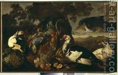 Still life and marsh birds by David de Coninck - Reproduction Oil Painting