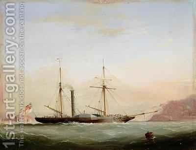 Paddle Steamer in Plymouth Sound off Mount Edgecombe by (after) Condy, Nicholas Matthews - Reproduction Oil Painting