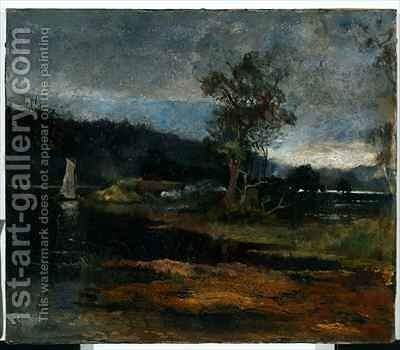 Low Tide Hawkesbury River by Charles Edward Conder - Reproduction Oil Painting