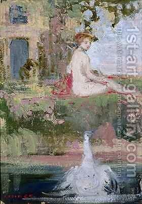 Design for fan by Charles Edward Conder - Reproduction Oil Painting