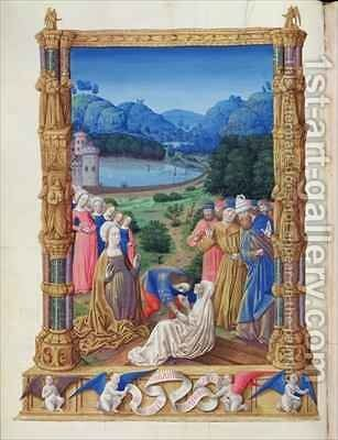 The Discovery of the Holy Cross from the Tres Riches Heures du Duc de Berry by Jean Colombe - Reproduction Oil Painting